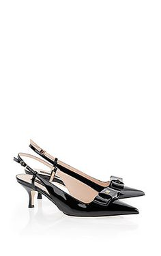 8a5e1f4585b Elegant slingback pump in fine leather with a stiletto heel and a closed  toe. This
