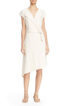 TIBI Crepe Trench Dress. #tibi #cloth #