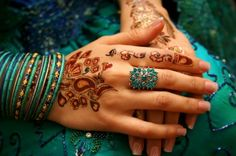 blue bangles and henna