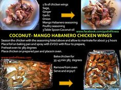 Coconut-Mango Habanero Wings