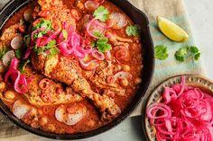meksikansk kyllinggryte med chili og sjokolade