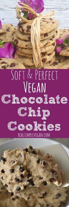 Soft & Perfect Vegan Chocolate Chip Cookies (scheduled via http://www.tailwindapp.com?utm_source=pinterest&utm_medium=twpin)