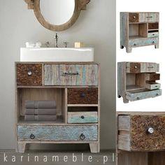 Ta niewielka bielona szafka z kolekcji GYPSY sprawdzi się w roli szafki pod umywalkę. Odpowiedni rozmiar i i piękne wykonanie to jej atuty. Szafka jest ręcznie rzeźbiona i malowana z litego drewna z recyklingu. Komoda można postawić nawet do nowoczesne meble i do klasyczny meble. Polecamy do kompletować do meble drewniane, meble kolonialne, meble indyjskie, meble loftowe, meble industrialne i nawet do meble orientalne.