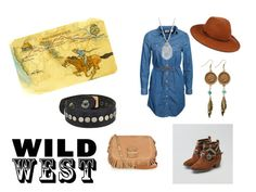 """Wild West Style"" by holly32196 on Polyvore featuring Levi's, American Eagle Outfitters, Helen Kaminski, See by Chloé, Lucky Brand, American Coin Treasures, COWBOYSBELT and wildwest"