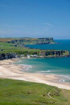 The beautiful beach of White Park Bay, N Ireland