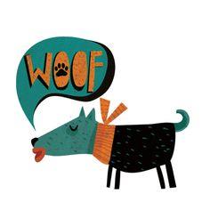 Woffy dog temporary tattoo