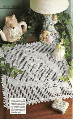 Crochet filet owl pattern crochet basket by PrettyKnitShop on Etsy, $4.50