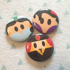 Aladdin inspired 1 inch pins! Perfect for park bags, lanyards, and jackets!