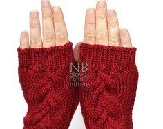 Knitted Fingerless Gloves Sunflower Black by nbGlovesAndMittens