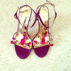 These heels are in great shape only worn twice. BCBG scrappy heels in passion suede!!! BCBG Shoes Heels