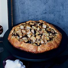 This rustic, free-form tart is topped with chocolate, pears and hazelnuts and sprinkled with flaky sea salt, which brightens the other flavors.