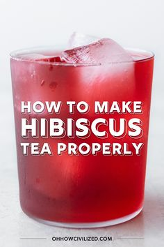 See how to brew hibiscus tea correctly to make the perfect cup of hot or iced hibiscus tea each and every time. See step-by-step guide with photos. Refreshing Drinks, Summer Drinks, Fun Drinks, Healthy Drinks, Healthy Food, Cold Drinks, Beverages, Mixed Drinks, Hibiscus Recipe