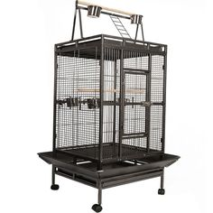 Bird Parrot cages Large Macaw Aviary Pet Playpen Enclosure Wire Mesh Stand Whee