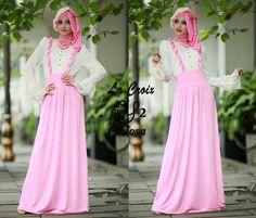 Model Baju Muslim Gamis Brokat Celosa  | kaoskeren.net