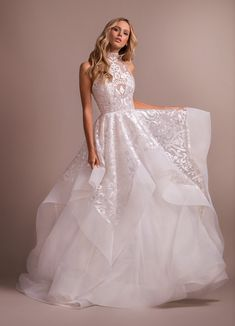 94c2dc8ad79 Style 6912 Kylo Hayley Paige bridal gown - Ivory Luxembourg high neck ball  gown
