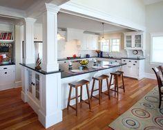 Image result for load bearing wall removal split level kitchen remodels