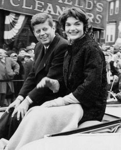 John F. and Jacqueline Kennedy at the South Boston Parade, 1958 Boston Globe