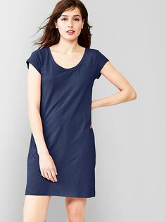 Slub t-shirt dress