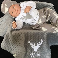 Homecoming Personalized Baby Boy Outfit Deer Baby Boy Clothes Minky Baby Gifts Woodland Baby Boy clothes Personalized Baby Boy Outfit - Knox Baby Name - Ideas of Knox Baby Name - Personalized Baby Boy Woodland Deer Buck Minky gift Set Deer Baby Showers, Baby Shower Gifts For Boys, Baby Boy Shower, Baby Gifts, Baby Boys, Cute Baby Boy, Nikki Baby, Baby Boy Blankets, Baby Deer