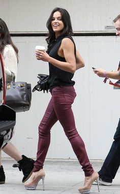 Michelle Rodriguez with peeptoes