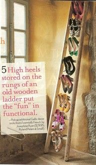 Ladder for high heel storage
