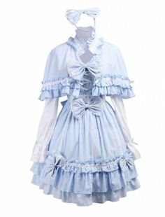 M4U Womens Cotton Blue Cape Sweet Lolita Dress;Size:S M4U Online Shopping to see or buy click on Amazon here  http://www.amazon.com/dp/B00JPVJSVW/ref=cm_sw_r_pi_dp_Yz-Ltb0G862CKTE7