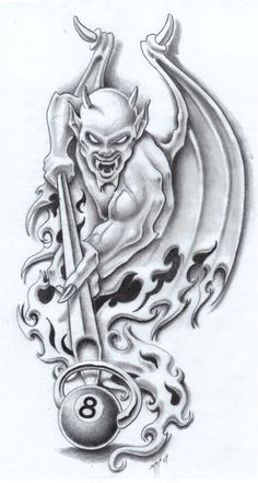 8 Ball by markfellows on DeviantArt - hiryu Blitz - . - 8 ball by markfellows on DeviantArt – hiryu Blitz – - Tattoo Designs, Tattoo Design Drawings, Skull Tattoo Design, Tattoo Sketches, Evil Tattoos, Skull Tattoos, Body Art Tattoos, Evil Skull Tattoo, Flash Art Tattoos