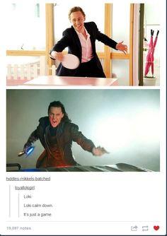Tom and Loki playing pingpong