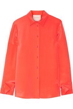 ROKSANDA Tiernan Silk-Marocain Shirt. #roksanda #cloth #shirt