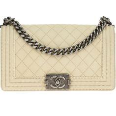 9a708ac346a0 Pre-owned Chanel Matte Beige Goatskin Leather Medium Boy Flap Bag (387405  RSD)