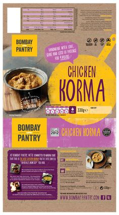Bombay Pantry Rebrand (Atomic) by Natacha Diaz, via Behance Food Packaging Design, Packaging Design Inspiration, Graphic Design Inspiration, Indian Menu Design, Restaurant Logo Design, Logo Branding, Logos, Newspaper Design, Graphic Design Illustration