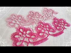 Mekik Oyası Havlu Kenarı Yapılışı 2. Video -Mezar Taşı- - YouTube Needle Tatting, Tatting Lace, Tatting Tutorial, Tatting Jewelry, Baby Knitting Patterns, Crochet Clothes, Crochet Necklace, Fancy, Make It Yourself