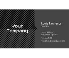 Download this Industrial Grays Business Card Template and other free printables from MyScrapNook.com