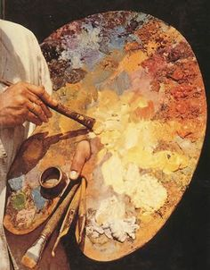 """If you are looking for a post on """"how to oil paint on canvas"""",here is a detailed lesson with video to make you understand the whole process of oil painting. As a beginner, you may be confused about using the oil painting supplies and how to paint on canvas. Oil Painting Brushes and Instructions Now, [...] #OilPaintingOnCanvas #OilPaintingBeginner"""