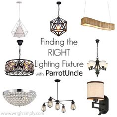 Find the Right Lighting Fixture