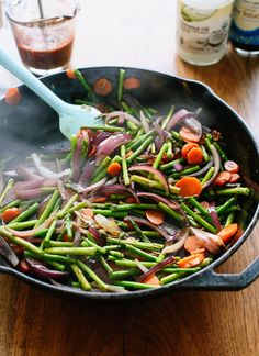This vegetable stir-fry recipe comes together in no time! To turn this side dish into a complete meal, serve it with brown rice and your choice of protein.