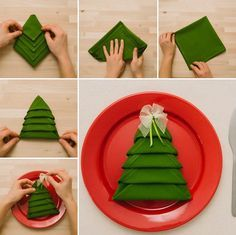 Napkin Folding For Christmas: Star, Christmas Tree, Pocket   3 Different  Techniques   DIY   YouTube | Cards U0026 Giftwrap Ideas | Pinterest | Christmas  Star, ...
