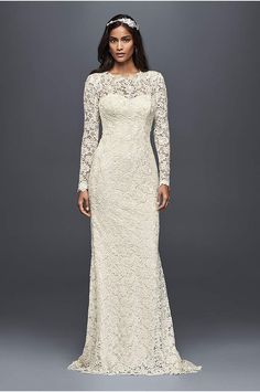 White by Vera Wang Twill Gazar Lace Wedding Dress - Davids Bridal
