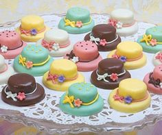 Pastel Tea Hat Petits Fours One Box for only $51.85