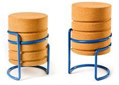 Intuitive Height-Adjustable Cork Stool by Manuel Welsky Design Studio, Deco Design, House Design, Design Design, Design Furniture, Chair Design, Accent Furniture, Furniture Inspiration, Design Inspiration
