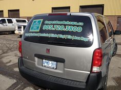 The second of the fleet for Oshawa Carpet One Floor & Home!  Looking' good with new rear window perforated vinyl graphics and digital print logos!   www.SpeedproDurham.ca