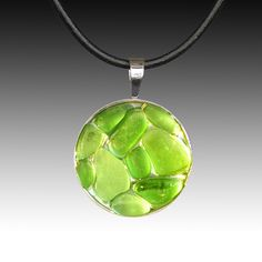Relish, Inc. Store - Green Beach Glass Pendant with Leather Necklace, $85.00 (http://www.relishinc.com/products/green-beach-glass-pendant-with-leather-necklace.html)