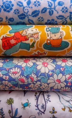 Liberty fabrics at materialiseyourlife.com Liberty Fabric, Japanese Fabric, Art Studios, Textile Art, Fabrics, Things To Come, Textiles, Colours, Vintage