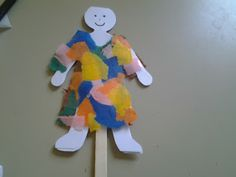 Flame: Creative Children's Ministry: Joseph's coat stick puppet craft