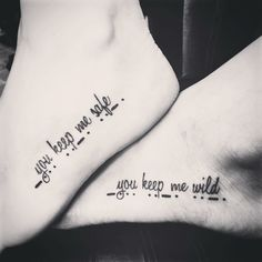 Our best friend tattoos!! The bottom is Morse Code for BFF