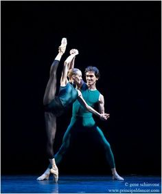 "Alicia Amatriain and Mikhail Kaniskin in ""In the Middle, Somewhat Elevated.""  Photo by Gene Schiavone."