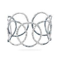Hammered Open Circle Cuff, Sterling Silver Glitzs. $249.15