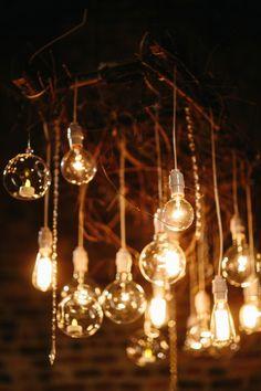 Hanging Lights At Wedding