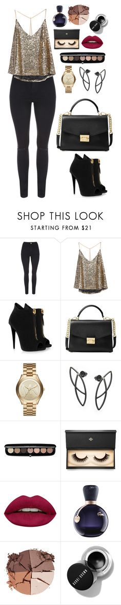 """""""Untitled #553"""" by alibasicamina on Polyvore featuring Giuseppe Zanotti, Michael Kors, Marc Jacobs, Lash Star Beauty, Huda Beauty, Lacoste and lilah b."""