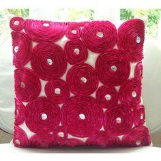 Designer Fuchsia Pink Pillow Cases, Modern Floral Cushion... https://www.amazon.com/dp/B005EMTZ4G/ref=cm_sw_r_pi_dp_x_kmxqyb457EHBF